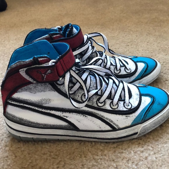 fund Primitive Mourn  Puma Shoes | Pop Art Style Sneakers Size Us 5 | Poshmark